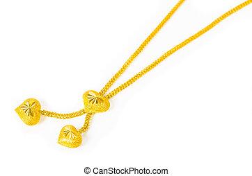 love heart gold necklace. - love heart gold necklace on...