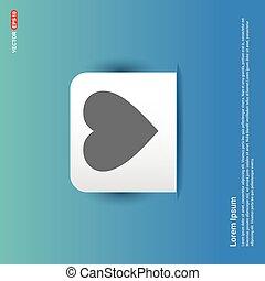 love heart icon - Blue Sticker button