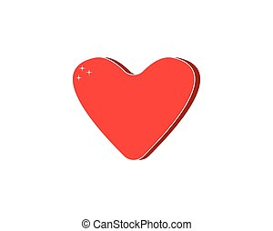 Love heart icon logo