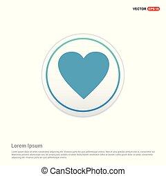 love heart icon - white circle button