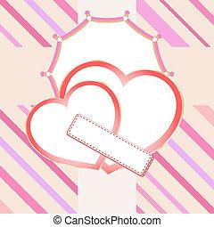 Love heart in bridal valentine