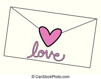 Love Heart Letter Envelop