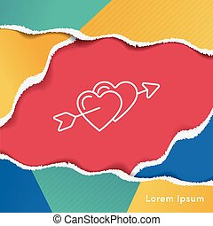 love heart line icon