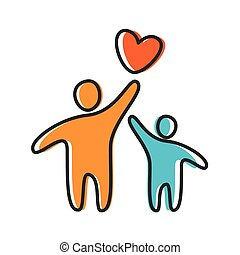 love heart parent icon - Parent. Template design for an icon...