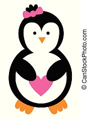 Love Heart Penguin
