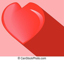 Love Heart Red Background