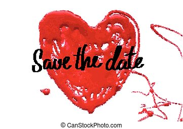 Love heart. Save the date.