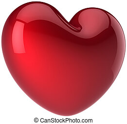 Love heart shape total red