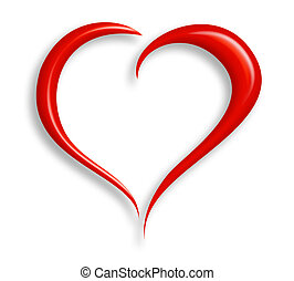 Love Heart - Stylized valentine heart made from two swashes...