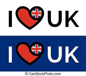 Love heart UK flag icon