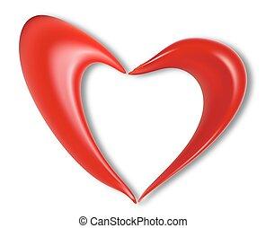 love heart valentine day - Heart on Valentine's Day, vector...