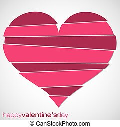 Love heart Valentine's Day card in vector format.