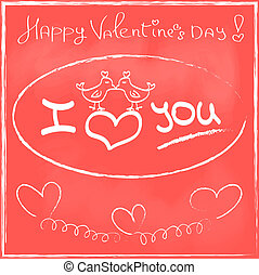 Love Heart Valentines day Greeting