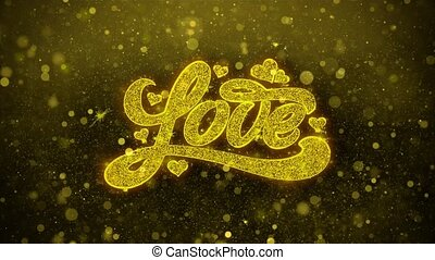 love heart Valentines day Wishes Greetings card, Invitation, Celebration Firework