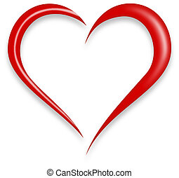 Love Heart - Red Love Heart Vector Illustration