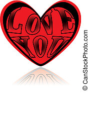 Love heart - Vector