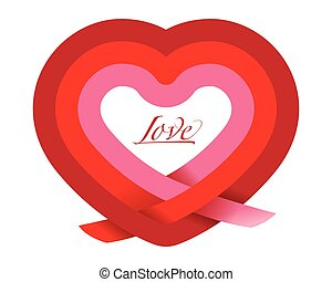 Love Heart Vector illustration for your design.