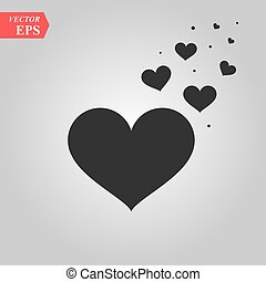 Love hearts, A collection of love hearts vector.