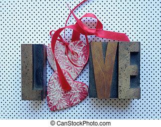 love, hearts and polka dots