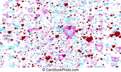 Love Hearts Background Valentines Day