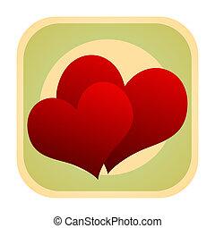 Love hearts icon