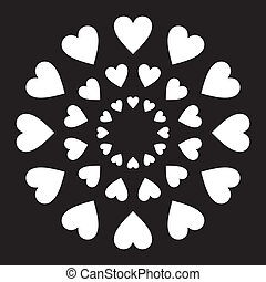 Love Hearts in a circle