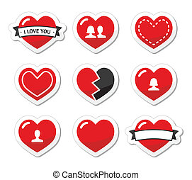 Love hearts labels set for Valentin