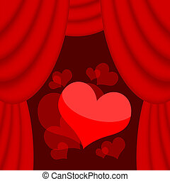 Love hearts on the stage