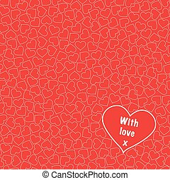 Love hearts seamless background