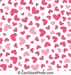 love hearts seamless pattern