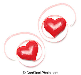 Love Hearts with Gift Ribbons - Love Hears with Gift Ribbons...