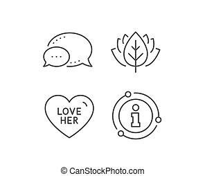 Love her line icon. Sweet heart sign. Valentine day. Vector