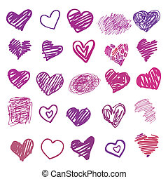 love., hjärta, isolated., illustration