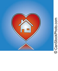 Love Home or House Illustration
