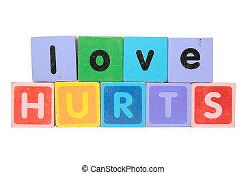 love hurts in toy blocks