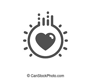 Love icon. Heart sign. Dating profile. Vector