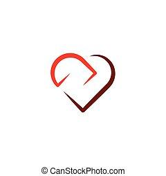 love icon heart sign symbol design element