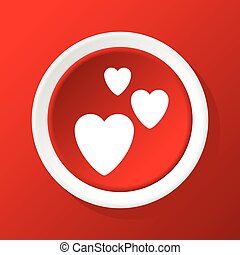 Love icon on red