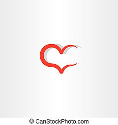 love icon symbol heart red sign element