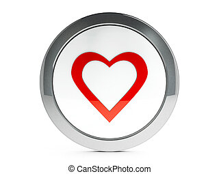 Love icon with highlight