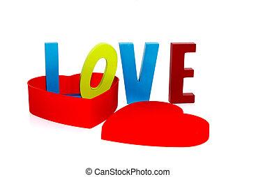 love in heart shape