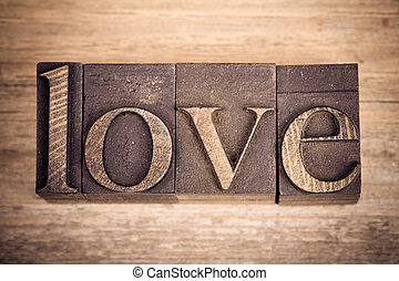 Love in printing blocks
