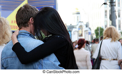 Love in the city - Young couple in the city