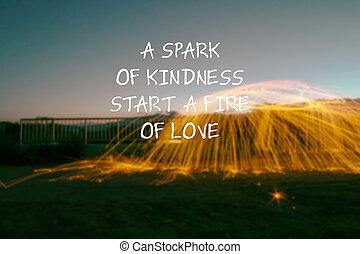 love., -, inspirador, comienzo, chispa, citas, amabilidad, ...