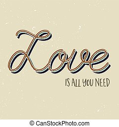 Love is all you need background - Valentines day background...