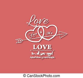 love is all you need with hearts