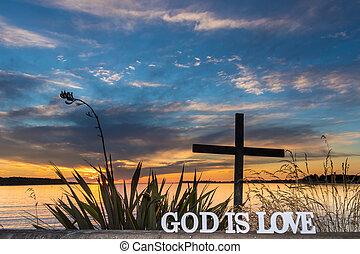 Love is God Sunset