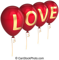 Love is in the air party balloons