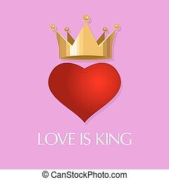 love is king crown heart queen