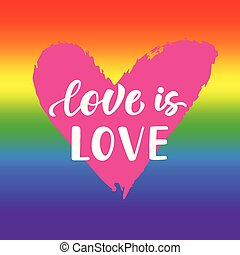 Love is love. Inspirational Gay Pride poster